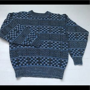 Vintage checker chevron pattern sweater